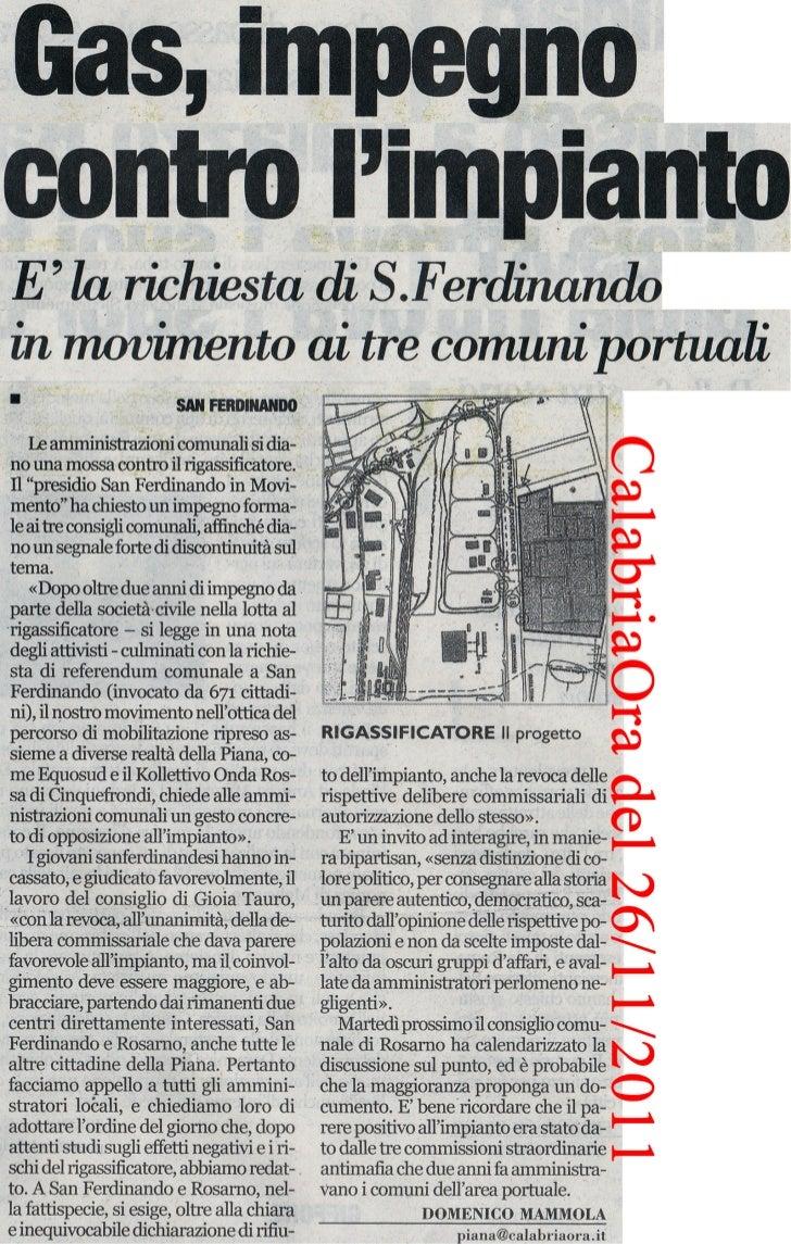 CalabriaOra del 26/11/2011