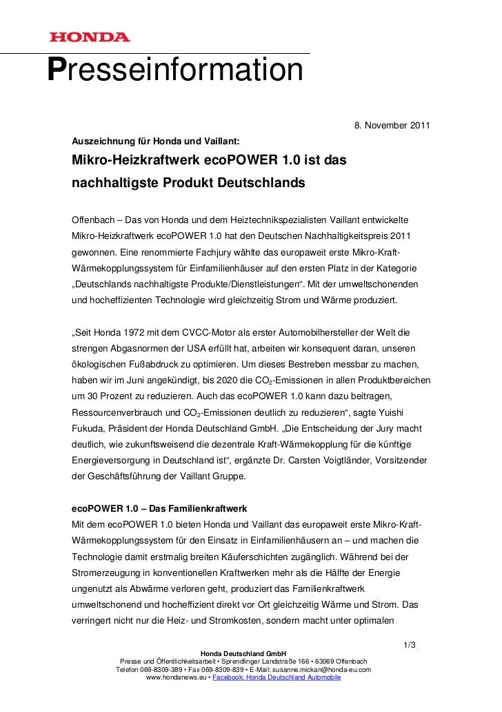 Presseinformation                                                                                      8. November 2011 Au...