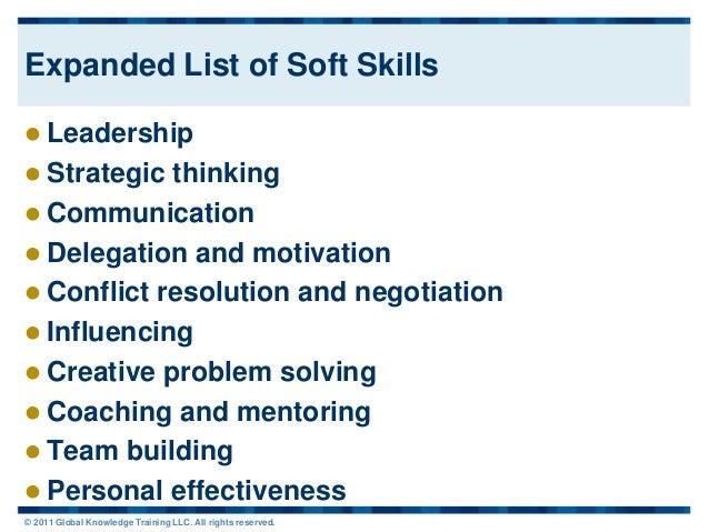 professional skills list