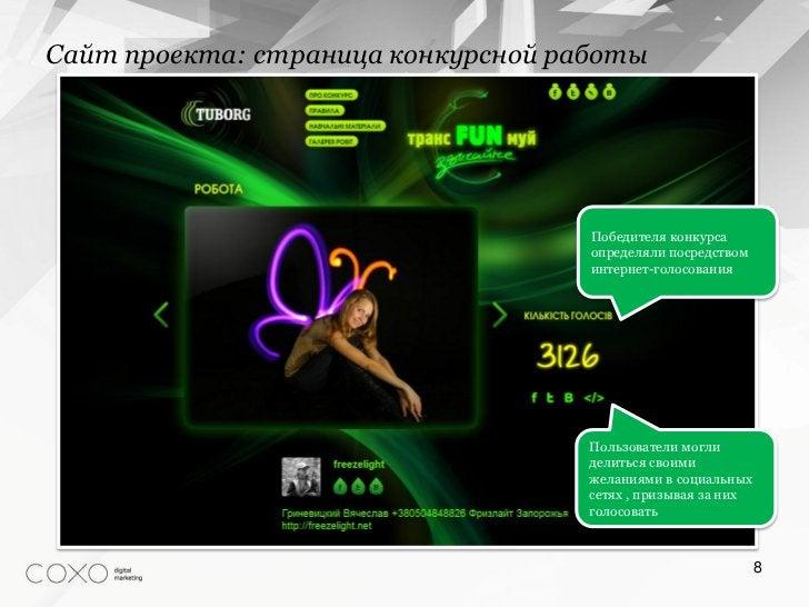 Сайт проекта: страница конкурсной работы                                    Победителя конкурса                           ...