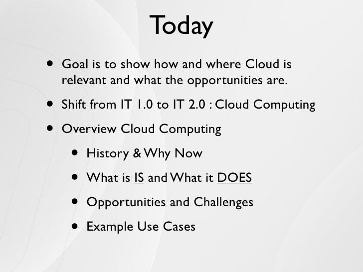 IT 2.0 and Cloud Computing Slide 3