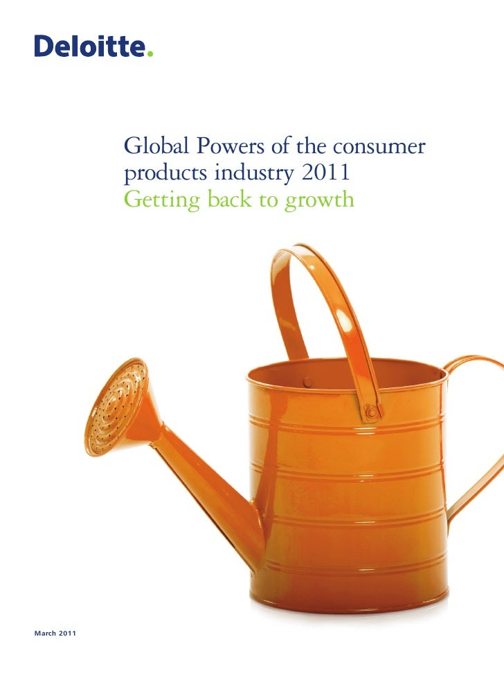 Global Powers of the consumer             products industry 2011             Getting back to growthMarch 2011