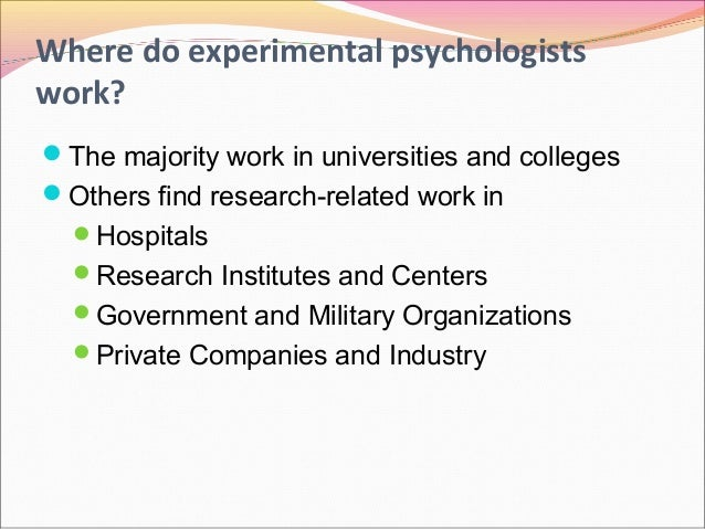 experimental psychology concepts Experimental psychology: learning, memory, and cognition,  the next sections are focused on a few of the core concepts in the scientific study of memory.