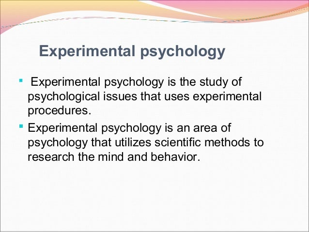 methods and experiments used in experimental psychology at edinboro university Autism and a range of other disorders—it's all psychology mercyhurst university's a ma from edinboro university psychology, research methods.