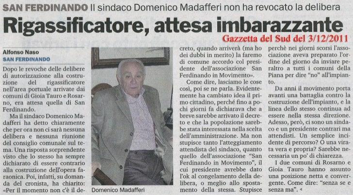 Gazzetta del Sud del 3/12/2011