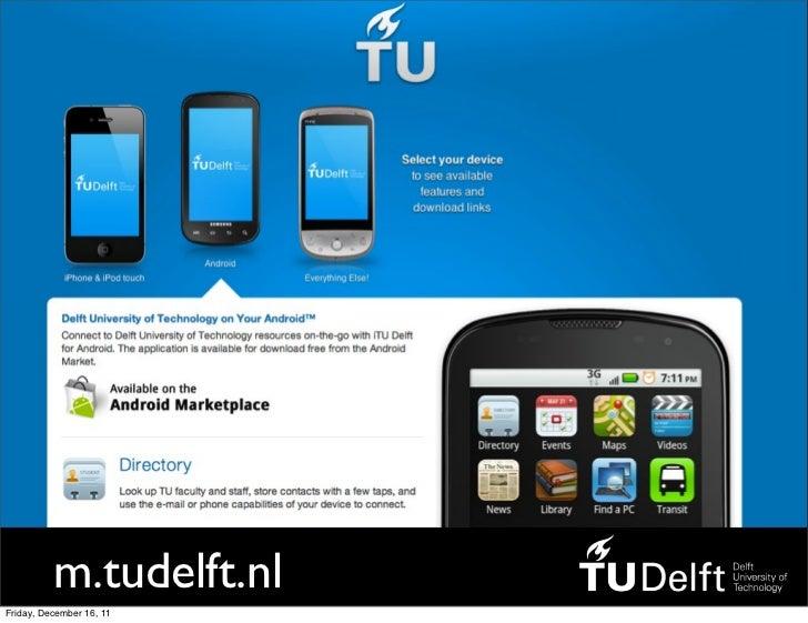 m.tudelft.nlFriday, December 16, 11