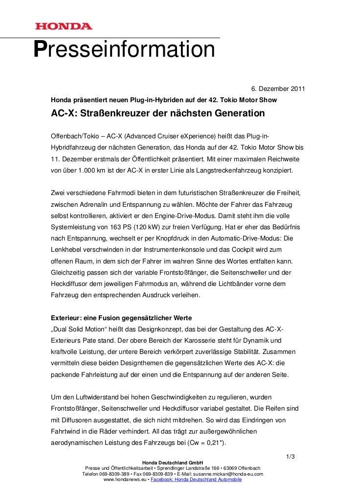 Presseinformation                                                                                      6. Dezember 2011 Ho...