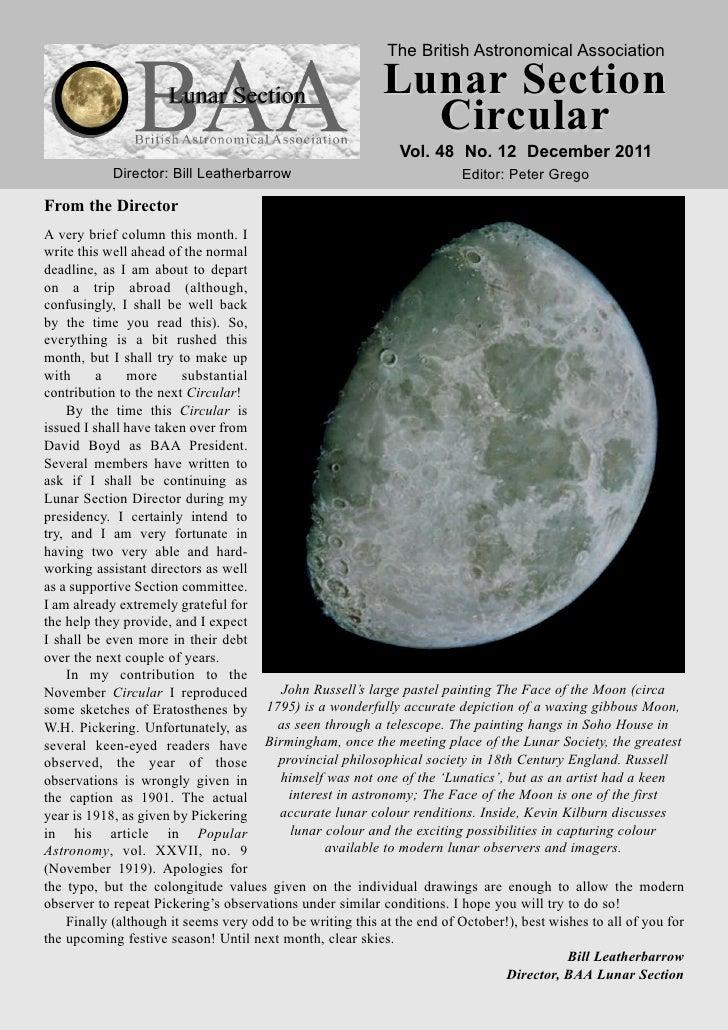 The British Astronomical Association                                                           Lunar Section              ...