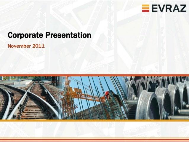 Corporate PresentationNovember 2011