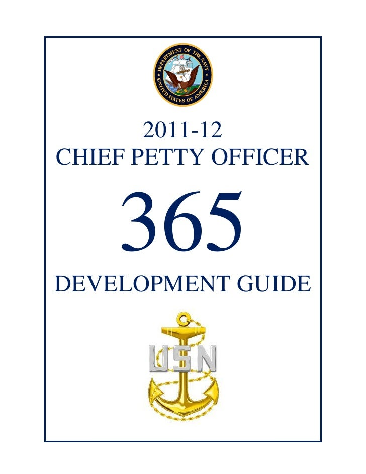 2011-12CHIEF PETTY OFFICER    365DEVELOPMENT GUIDE