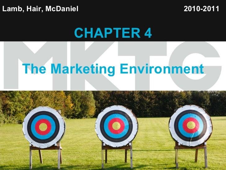 Lamb, Hair, McDaniel   CHAPTER 4 The Marketing Environment 2010-2011