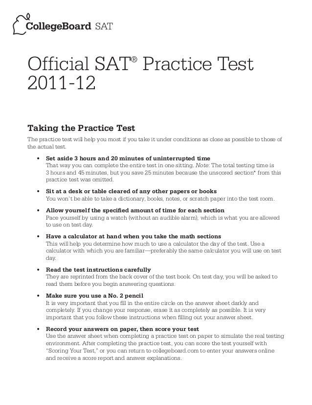 Online essay test