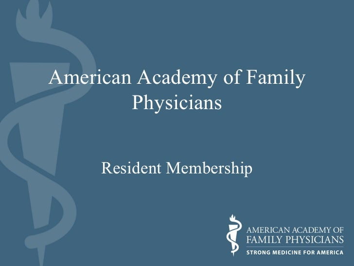 American Academy of Family Physicians Resident Membership