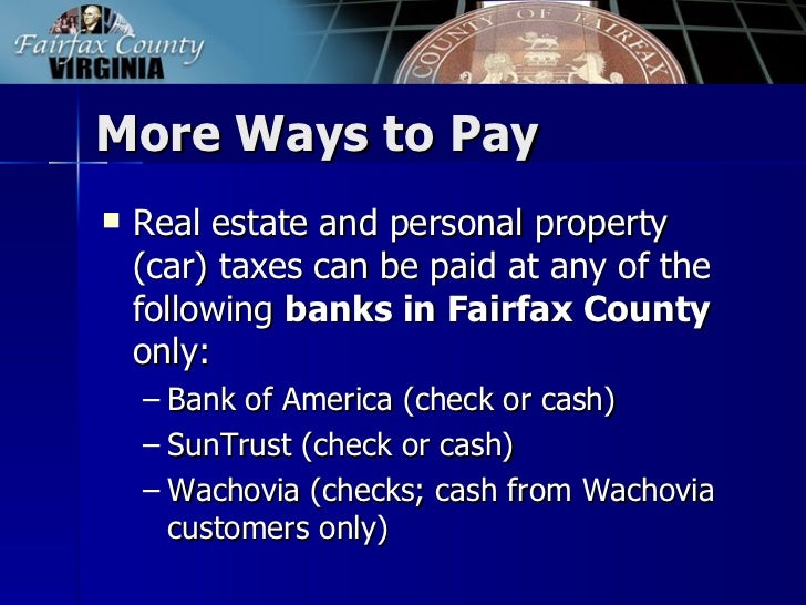 Fairfax County Personal Property Tax >> 2011 2012 Fairfax County Tax Facts
