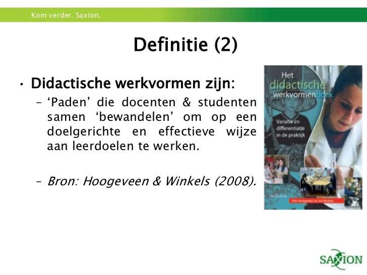 didactische werkvormen Didactische werkvormen : we hebben de werkvormen opgedeeld in 3 soorten, namelijk: -docentgestuurd -gedeelde sturing -leerling gestuurd opbouw docentgestuurde les.