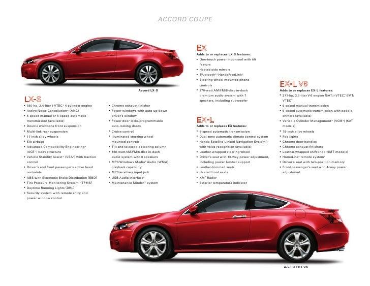 2011 Honda Accord Coupe Fact Sheet   DCH Honda of Temecula