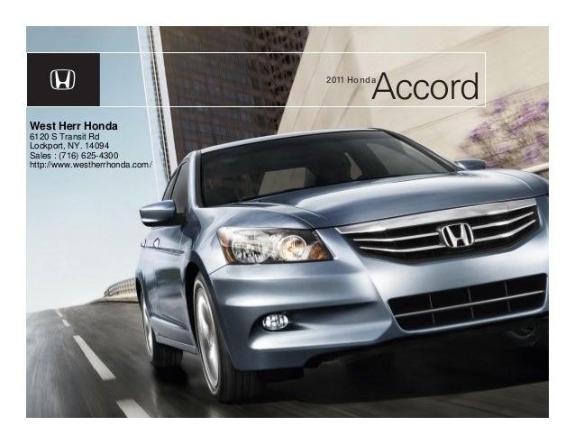 2011 honda accord sedan west herr honda buffalo ny for Honda dealers wny