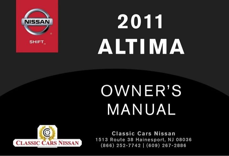 2011 altima owner s manual rh slideshare net 2011 nissan altima owners manual nissan altima 2011 owner's manual