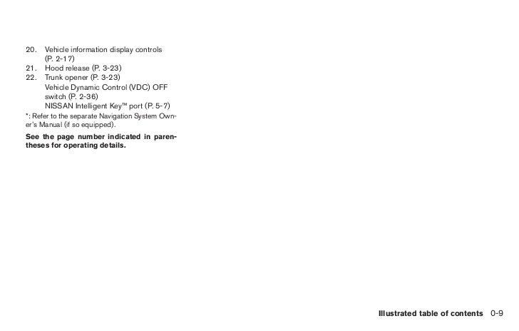 2011 altima owner s manual rh slideshare net 2011 nissan altima 3.5 sr owners manual nissan altima 2011 owner's manual
