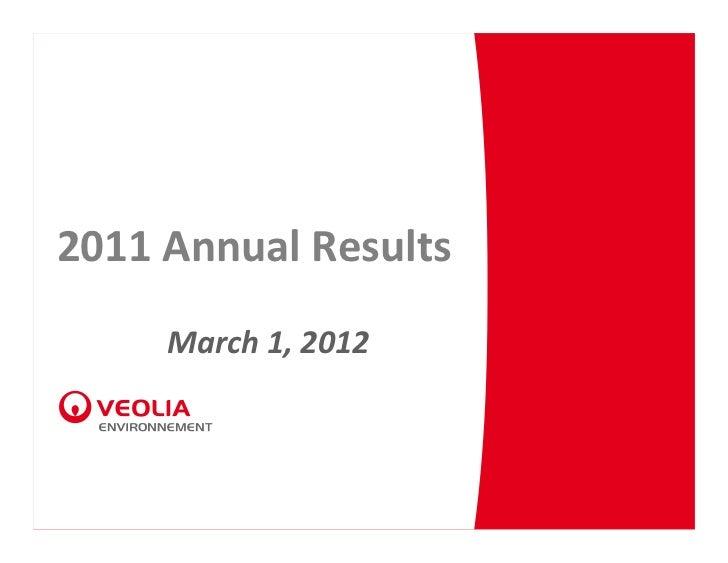 2011AnnualResults     March1,2012