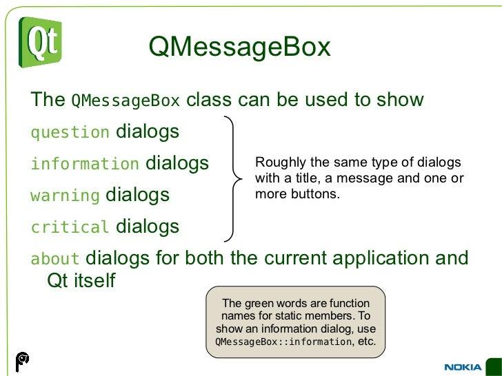 Qmessagebox Information Example