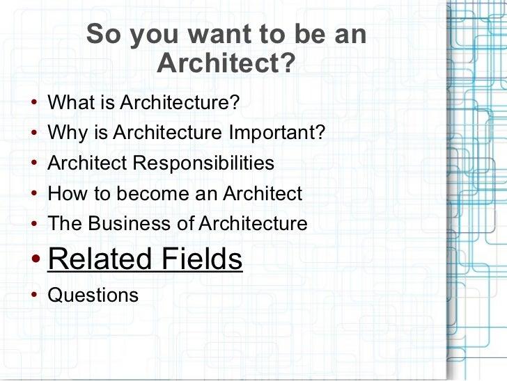 2011 Career Day Architect