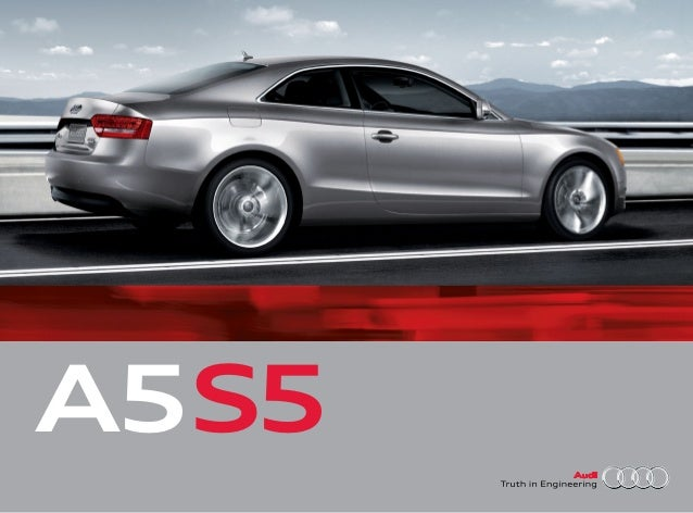 2011 Audi S5 Mission Viejo. FRONT COVER A5S5 ...