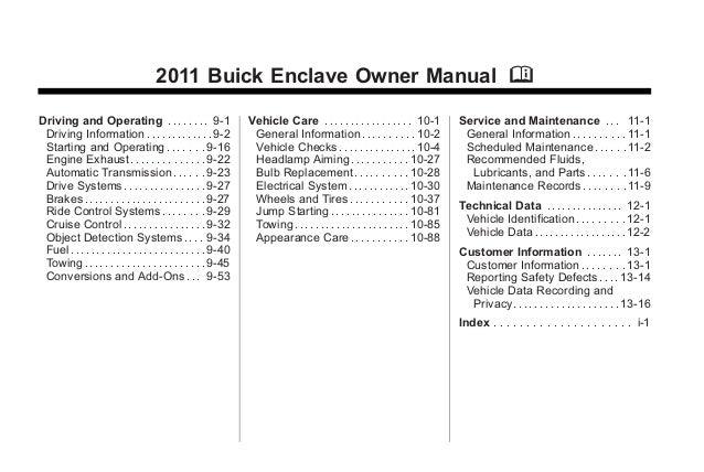 buick enclave manual various owner manual guide u2022 rh justk co buick lacrosse 2011 user manual buick lacrosse 2011 user manual