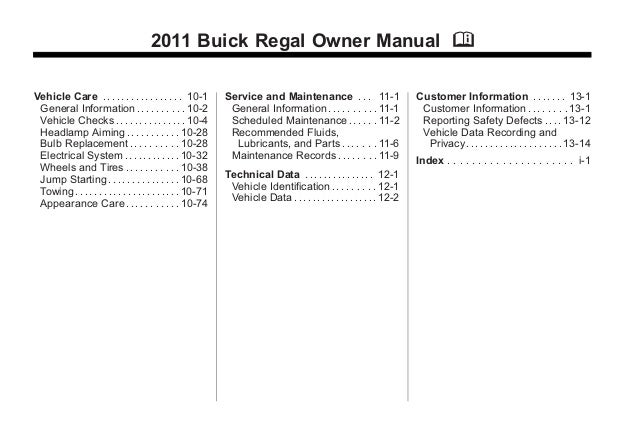 2011 buick regal toledo owners manual rh slideshare net 2011 Buick Regal Black buick regal 2012 owners manual