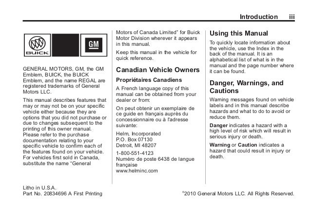 2011 buick regal toledo owners manual rh slideshare net 2011 Buick Regal Black 2011 buick regal owner's manual download