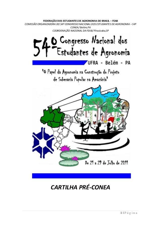 FEDERAÇÃO DOS ESTUDANTES DE AGRONOMIA DO BRASIL – FEABCOMISSÃO ORGANIZADORA DO 54º CONGRESSO NACIONAL DOS ESTUDANTES DE AG...