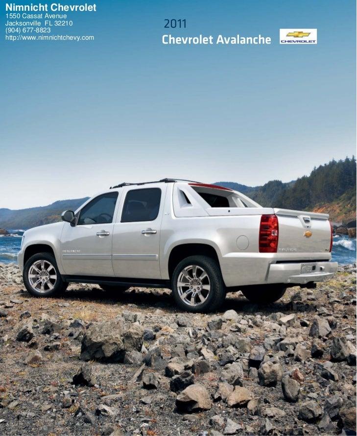 2011 Chevrolet Avalanche Jacksonville Fl Nimnicht Chevrolet