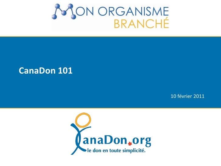 Orientation pour ton organisme inscrit sur CanaDon