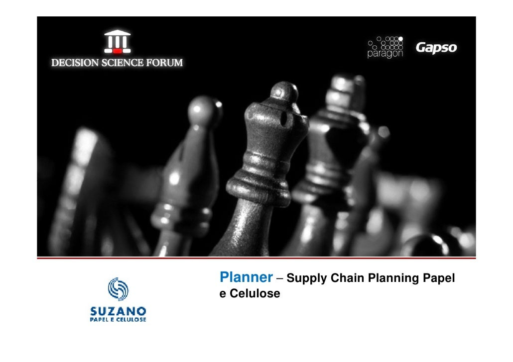 Planner – Supply Chain Planning Papellogomarca da sua   e Celulose  empresa aqui
