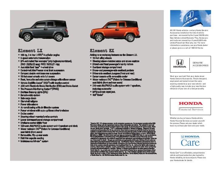 2011 Honda Element Factsheet By Neil Huffman Honda