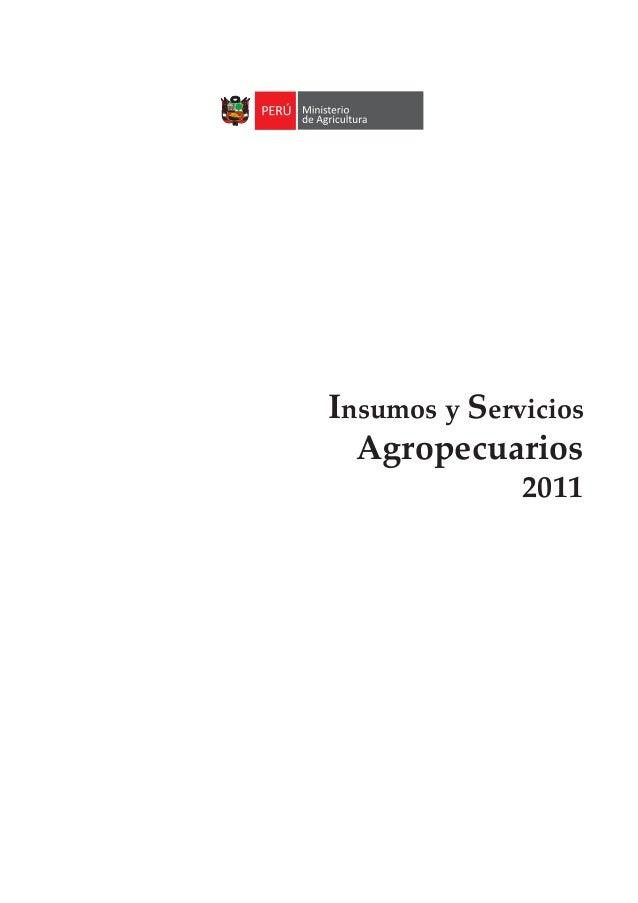 Insumos y Servicios Agropecuarios 2011