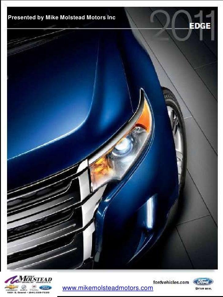 Presented by Mike Molstead Motors Inc<br />www.mikemolsteadmotors.com<br />