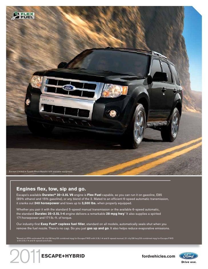 ford escape hybrid 2011 mpg