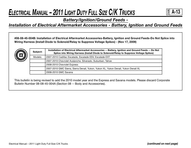 21  electrical manual – 2011