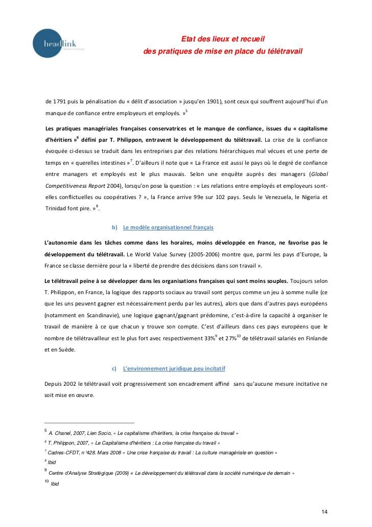 Etat des lieux et recueil                                                 des pratiques de mise en place du télétravailde ...
