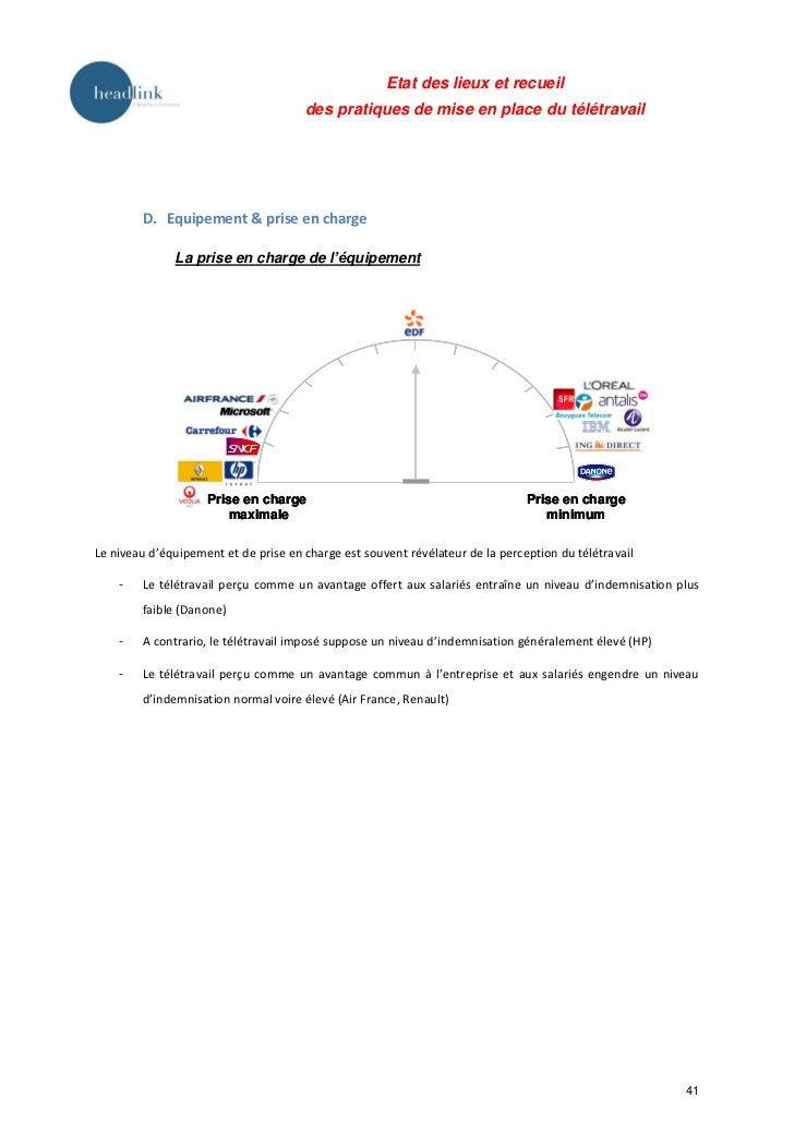 Etat des lieux et recueil des pratiques de mise en place du télétravail