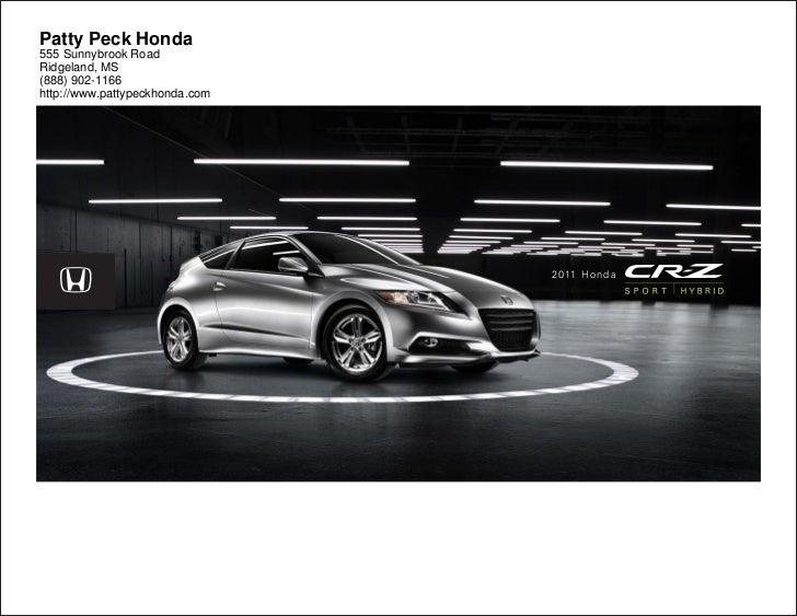2011 honda cr z for sale near jackson ms patty peck honda for Honda jackson ms