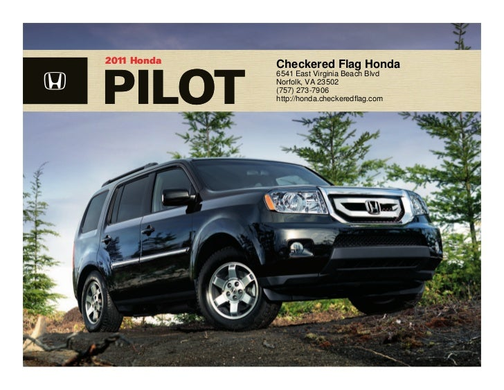 2011 Honda Pilot For Sale Near Virginia Beach VA  Checkered Flag Hon
