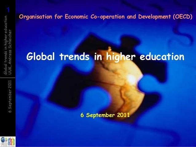 116September2011 Globaltrendsinhighereducation UUK,AndreasSchleicher Global trends in higher education Organisation for Ec...