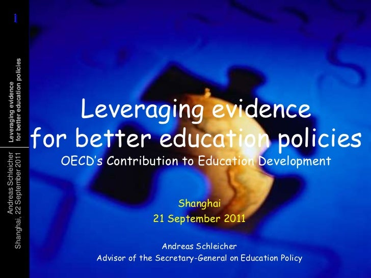 1      1 for better education policies Leveraging evidence                                     Leveraging evidence        ...