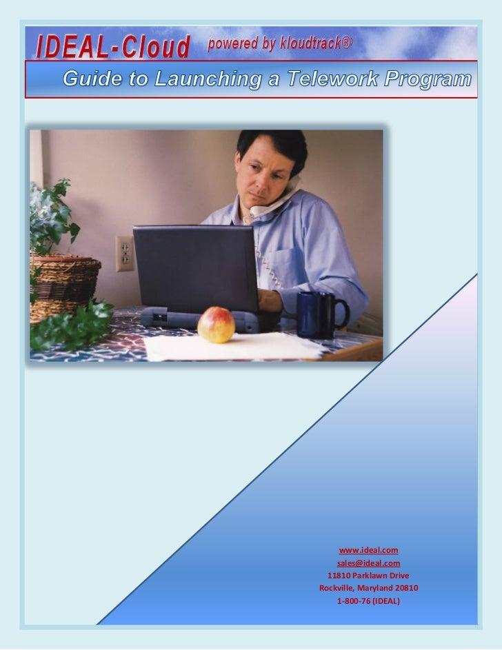 www.ideal.com    sales@ideal.com  11810 Parklawn DriveRockville, Maryland 20810    1-800-76 (IDEAL)
