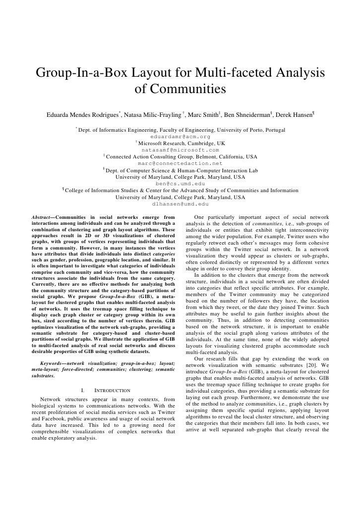 2011 IEEE Social Computing Nodexl: Group-In-A-Box