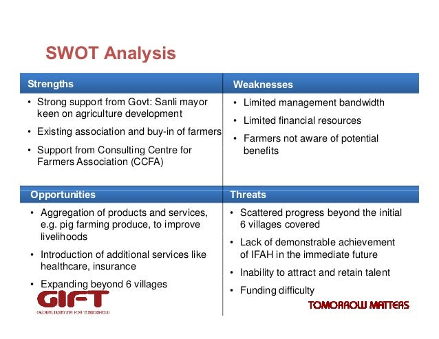 swot analysis of organic farming Thus, was constructed a swot analysis to support managers  biodiversity:  farming systems, species, varieties, breeds and cultural diversity  are the main  differences between a natural cosmetics or organic, sus- tainable.