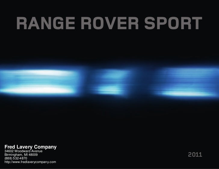 2011 Land Rover Range Rover Sport Detroit MI | Fred Lavery Company