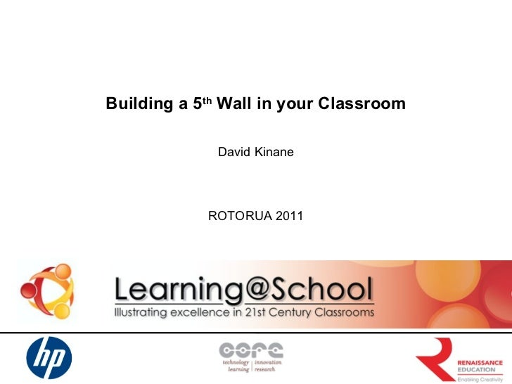 Building a 5 th  Wall in your Classroom David Kinane ROTORUA 2011